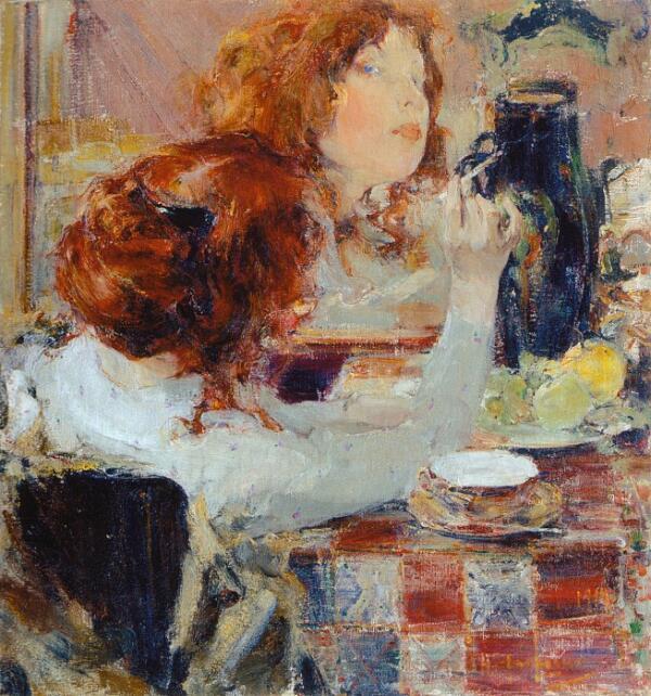 Н. И. Фешин, «Золотые волосы», 1914 г.