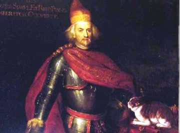 Франческо Морозини с котом. Возможно современый фотомонтаж
