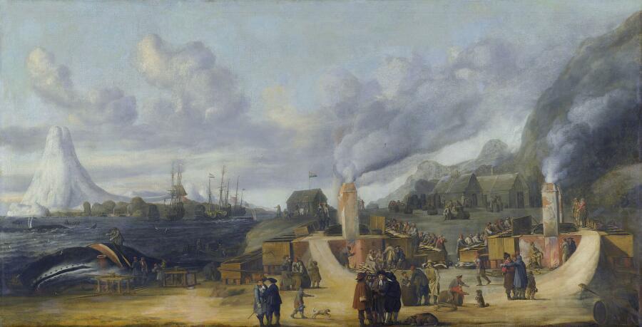 Корнелис де Ман, «Завод по плавке китового жира на Шпицбергене»