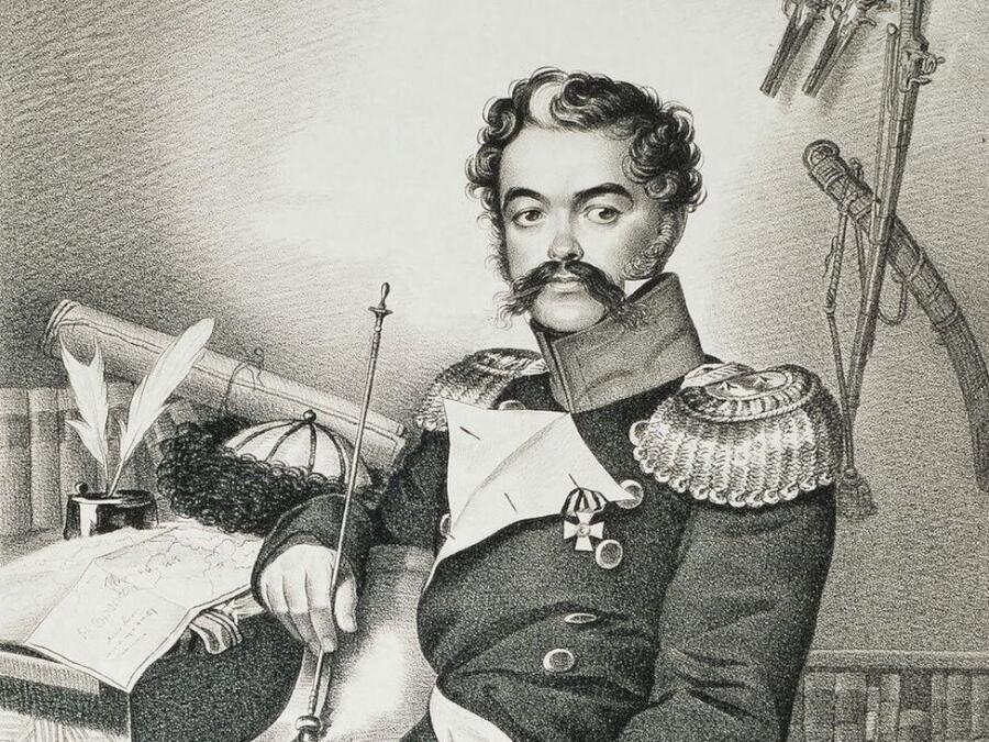 Карл Гампельн, «Д. В. Давыдов» (фрагмент)