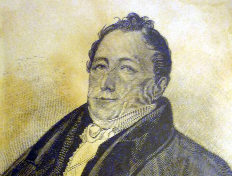 К. Гампельн, «Сергей Львович Пушкин», гравюра