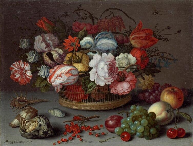 Балтасар ван дер Аст, «Корзина с цветами», 1622 г.