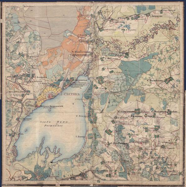 Озеро Неро и его окрестности, из «Атласа Ярославской губернии» 1858 года