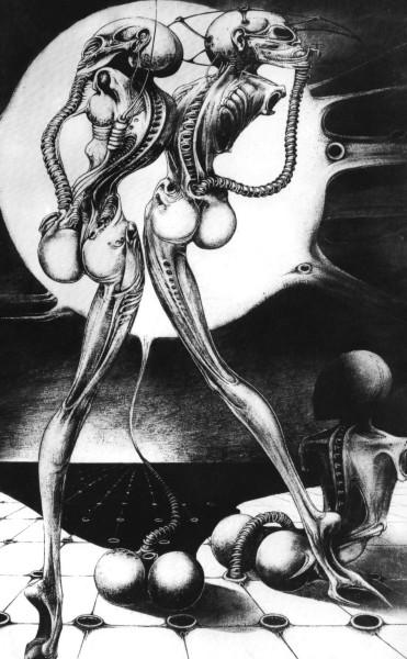 Ганс Рудольф Гигер, «Атомные дети», 1968 г.