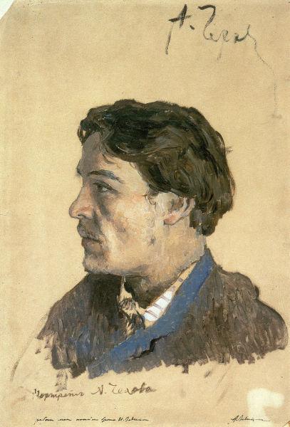 Исаак Левитан, «Портрет А. П. Чехова», 1885—1886 гг.