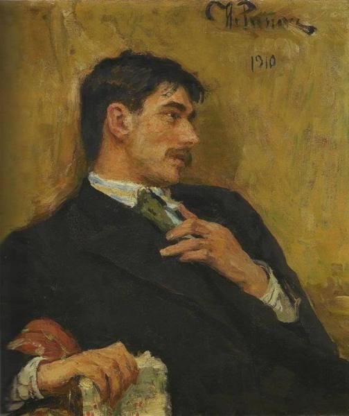 И. Е. Репин, «Портрет поэта Корнея Ивановича Чуковского», 1910 г.
