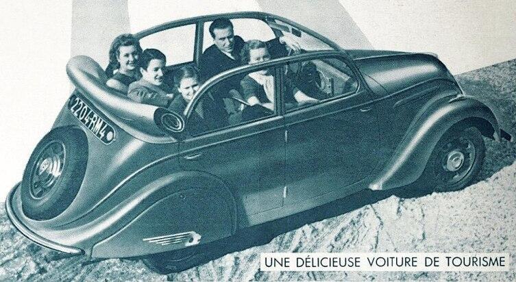 Реклама Пежо-202, 1938 г.