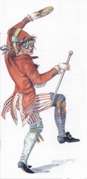 Ругантино, маска Комедия дель арте