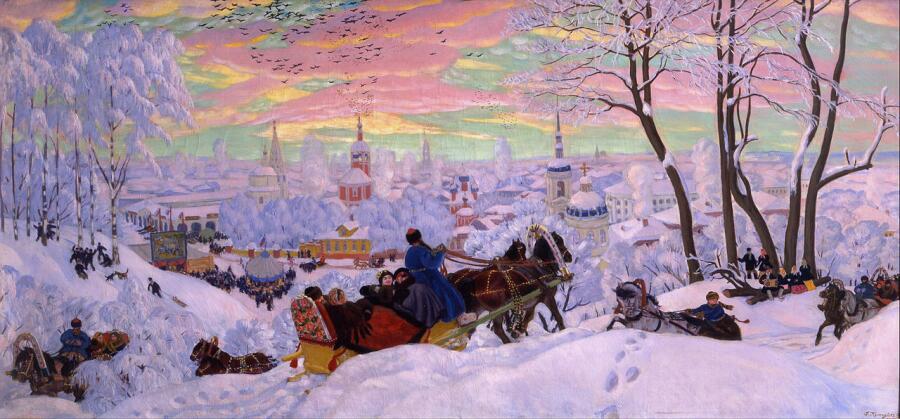 Б. Кустодиев, «Масленица», 1916 г.
