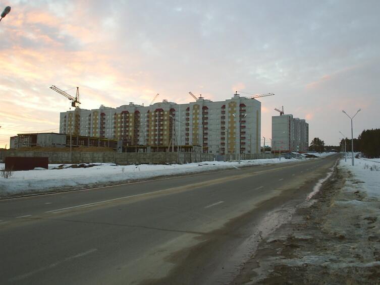 Новые дома и окружная дорога Нововоронежа