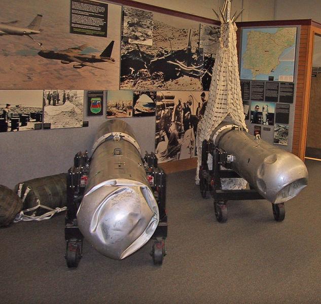 Оболочки двух термоядерных бомб B28 из Паломареса находятся в музее
