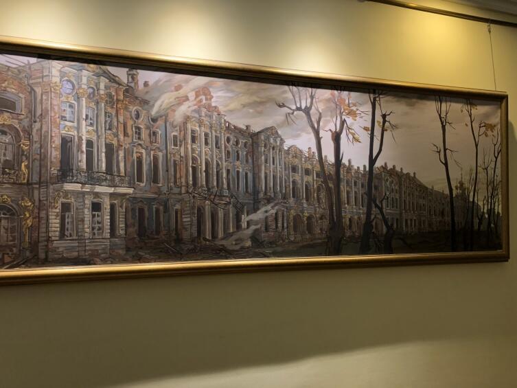 Картина— таким был Дворец после освобождения от фашистов