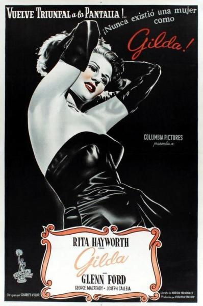 Обложка диска с фильмом «Джильда», 1946 г.