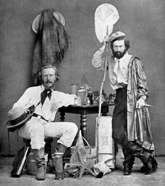 Эрнст Геккель (слева) со своим ассистентом Николаем Миклухо-Маклаем на Канарских островах. Декабрь 1866 года