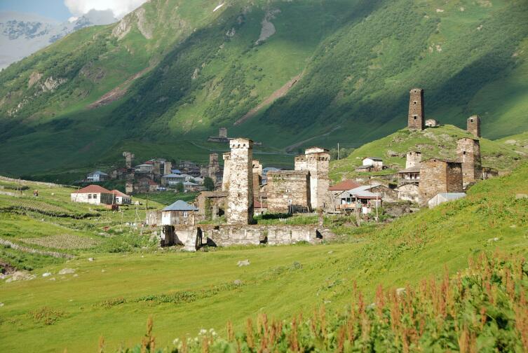 Башни в Сванетии, в селе Ушгули