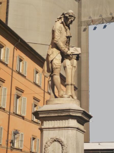 Памятник Луиджи Гальвани в Болонье. Сейчас лягушка дрыгнет лапкой и будет сделано великое открытие