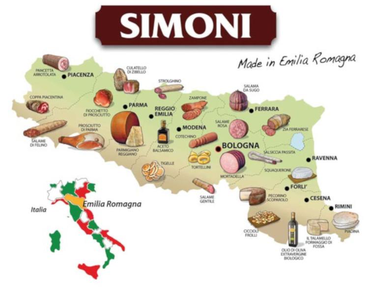 Эмилия-Романья. Ее место на карте Италии и на столе итальянца