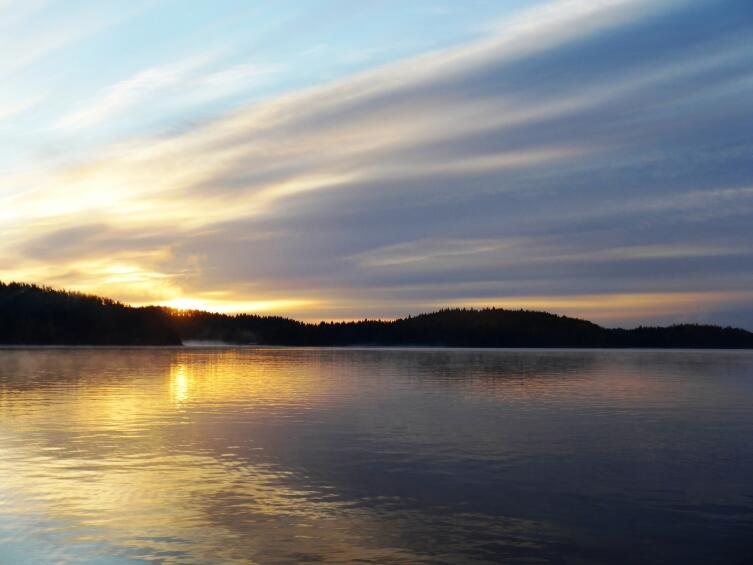 Ладожское озеро, восход