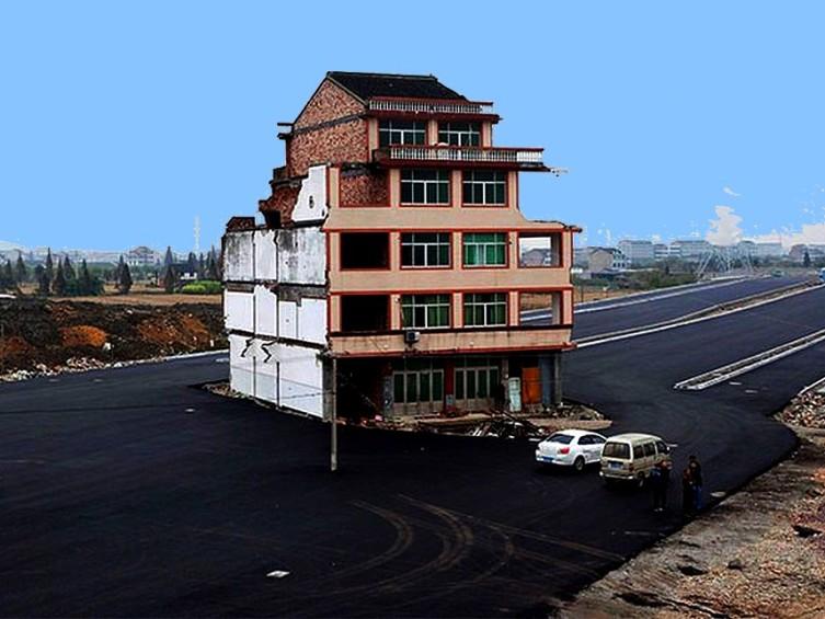 Дом на шоссе в Китае