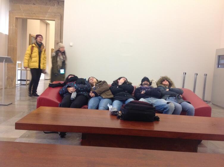 В музее Карла V после посещения всех дворцов