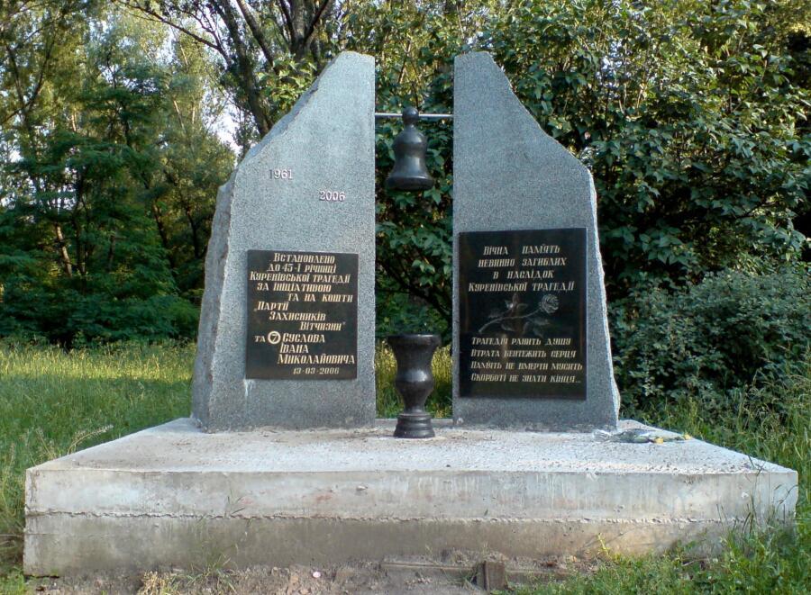 Памятник жертвам трагедии, открытый в марте 2006 г.