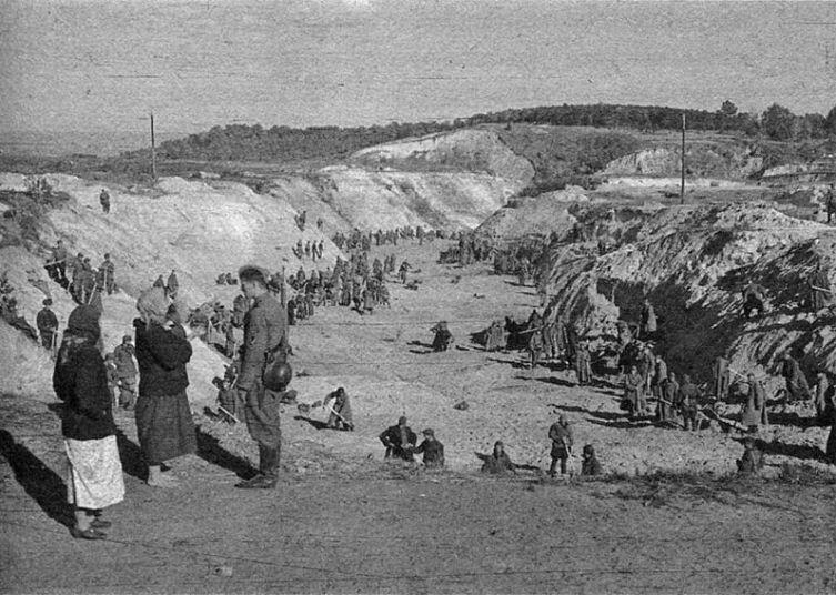 Бабий Яр 29.09.1941 г., в первые дни расстрела
