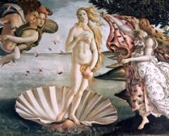 """Утверждают, что """"Рождение Венеры"""" Боттичелли — одно из первых """"ню"""" на картинах светского содержания."""