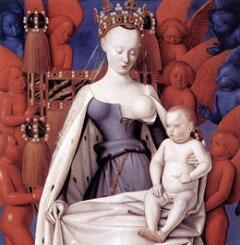 Жан Фуке изобазил Агнессу Сорель - фаворитку короля Франции Карла VII - в образе Мадонны.