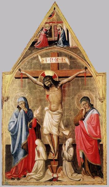 Антонио да Фиренце, «Распятие с Марией, евангелистом Иоанном и двумя монахами»