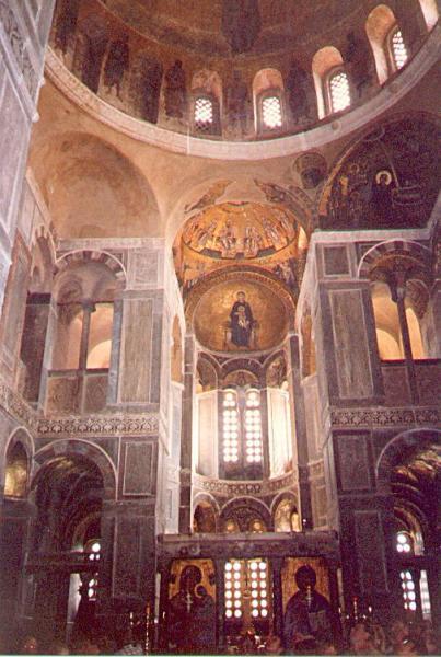 Монастырь Осиос Лукас, внутренний вид кафоликона, Греция, XI в.