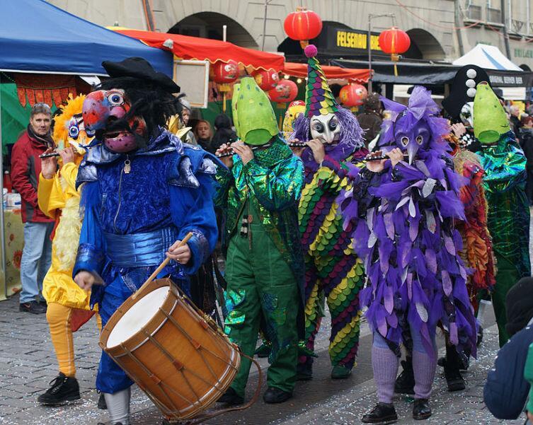 Бернский карнавал в Швейцарии