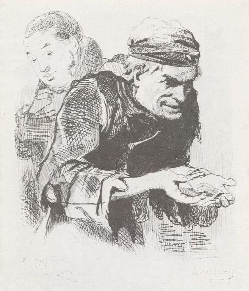 Плюшкин на рисунке А. А. Агина