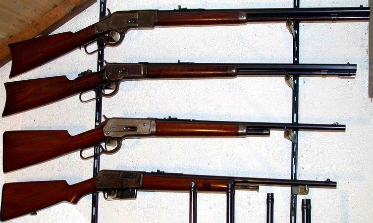 Винчестеры моделей 1873 г. («Винтовка, завоевавшая Запад»), 1886 г., 1892 г., 1905 г.