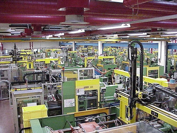 Цех по производству кубиков LEGO