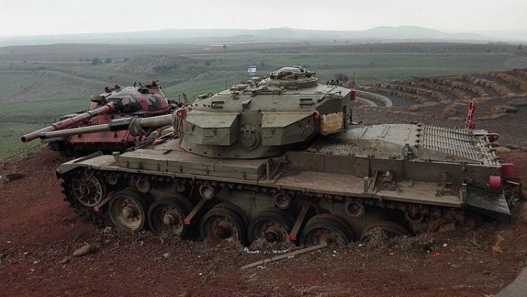 Танки на Голанских высотах. Мемориал израильским бойцам, павшим в танковом сражении в «Долине слез» в войне Судного дня