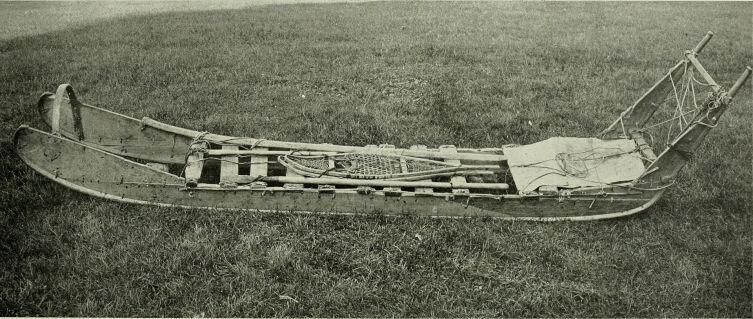 Нарты эскимосского образца, используемые Пири в экспедициях