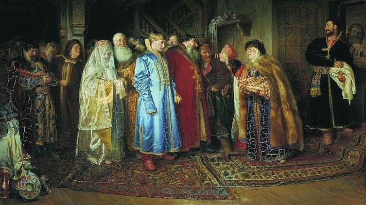 К. В. Лебедев, «Боярская свадьба», 1883 г.