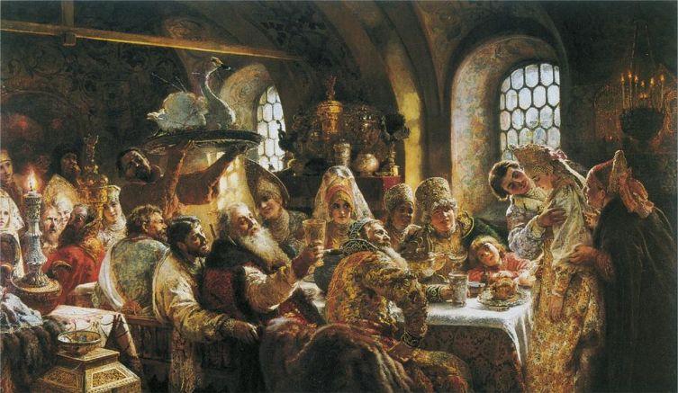 К. Е. Маковский, «Свадебный пир в боярской семье XVII столетия», 1883 г.