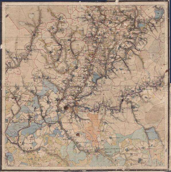 Город Пошехонье и его окрестности, из «Атласа Ярославской губернии» 1858 г.