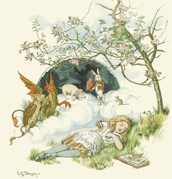 Рис. Джона Тенниела с обложки издания «Алиса для детей» 1890г.