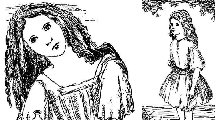 Рисунки Льюиса Кэрролла из рукописи «Приключения Алисы под землёй»