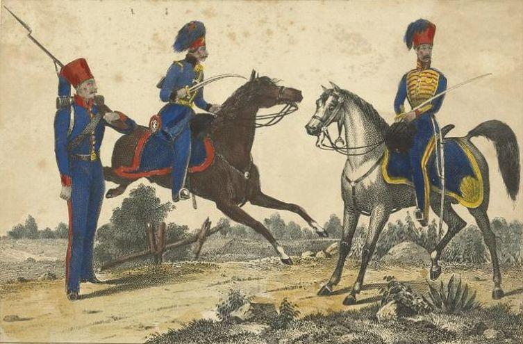 Турецкие кавалеристы в конце XVIII века