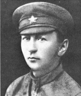 Ярослав Гашек в форме красноармейца, 1920 г.