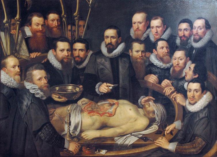 Михил ван Миревельт, «Урок анатомии доктора Виллема ван дер Меера», 1617 г.