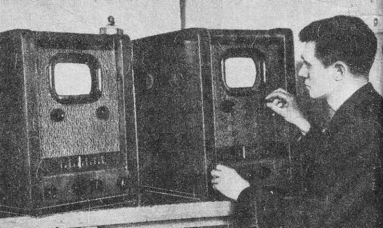 Тестирование первых телефизоров