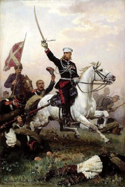 Н. Д. Дмитриев-Оренбургский, «Генерал М. Д. Скобелев на коне», 1883 г.