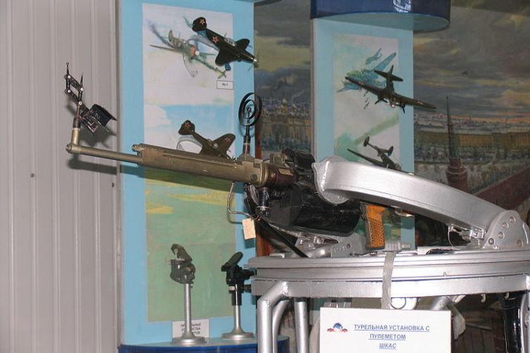 Турельный вариант пулемёта ШКАС в экспозиции Музея ВВС