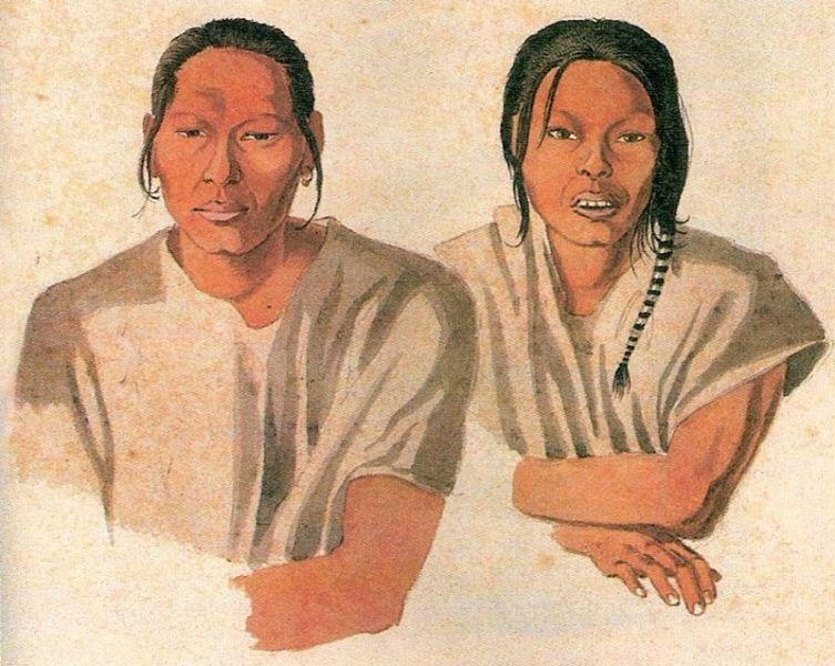 Араваки из племени гуана, художник Эркюль Флоранс