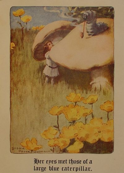 Алиса и Синяя Гусеница. Иллюстрация Бесси Пиза Гатмэнна