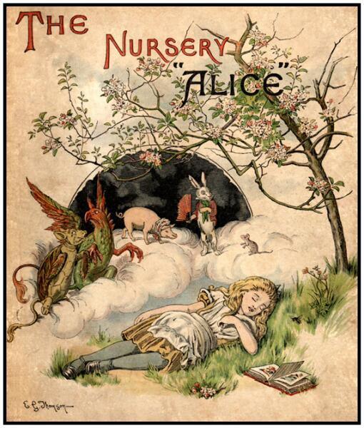 """Обложка издания «""""Алиса"""" для детей» 1890 г."""